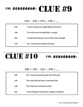 Whodunnit? -- Balancing Addition & Subtraction Equations - Skill Activity