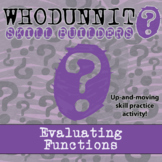Whodunnit? - Evaluating Functions - Class Activity -Distance Learning Compatible