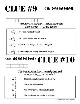 Whodunnit? -- Fraction Models - Skill Building Class Activity