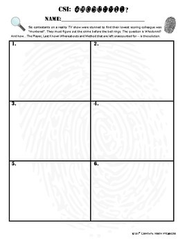 Whodunnit? -- Line Graphs - Skill Building Class Activity