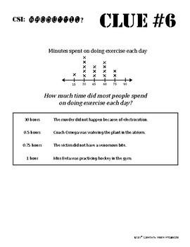 Whodunnit? -- Line Plots - Skill Building Class Activity