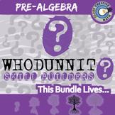 Whodunnit? -- PRE-ALGEBRA CURRICULUM BUNDLE - 60+ Skill Building Activities