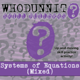 Whodunnit? - Systems of Equations - Class Activity -Distance Learning Compatible