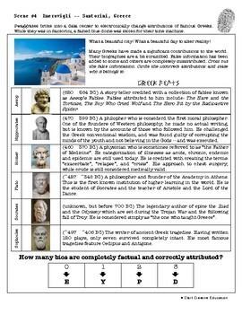 CSI: World History - Ancient Greece - Identifying Fake News Review Activity