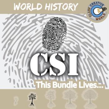 CSI: WORLD HISTORY CURRICULUM BUNDLE - Identifying Fake News Review Activities