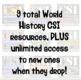 CSI World History Bundle! Tut, Maya, Shakespeare, Caesar, Atlantis, & More!