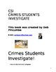 CSI booklet  Crimes Students Investigate, a forensic case