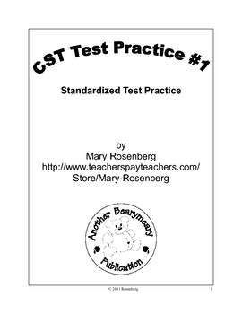 CST ELA Test Practice #1 for 2nd Grade
