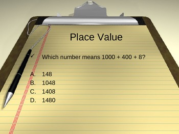 CST Review - Number Sense 1 - Place Value, Fractions, and Decimals