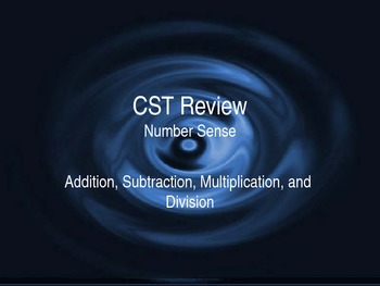 Review - Number Sense 2 - Addition, Subtractions, Multiplication, Division