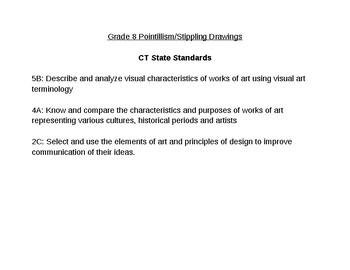 CT State Standards for Stippling/Pointillism Lesson Plan