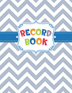 Chevron Record Book Open eBook