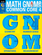 Grade K Math GNOMe and the Common Core 4 Resource Book, eBook