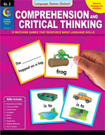 Language Games Galore! Comprehension and Critical Thinking, Grade 2