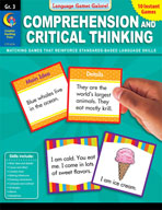 Language Games Galore: Comprehension and Critical Thinking (Grade 3)