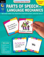 Language Games Galore: Parts of Speech and Language Mechanics (Grade 3)