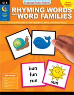 Language Games Galore! Rhyming Words and Word Families, Kindergarten