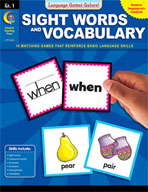 Language Games Galore! Sight Words and Vocabulary, Grade 1