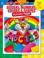 Letters, Numbers, Colors & Shapes Activity Pages