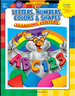 Letters, Numbers, Colors & Shapes Learning Centers