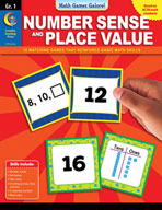 Math Games Galore: Number Sense and Place Value (Grade 1)