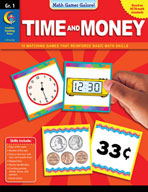 Math Games Galore: Time and Money (Grade 1)