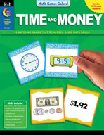 Math Games Galore: Time and Money (Grade 2)