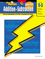 Power Practice Math Timed Tests: Addition and Subtraction