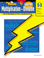 Power Practice Math Timed Tests: Multiplication and Division