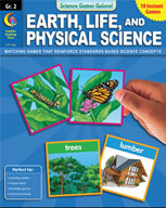 Science Games Galore! - Earth, Life, and Physical Science (Grade 2)