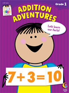 Addition Adventures Stick Kids Workbook: Grade 1