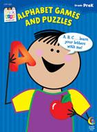 Alphabet Games and Puzzles Stick Kids Workbook: PreKindergarten