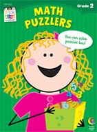 Math Puzzlers Stick Kids Workbook: Grade 2