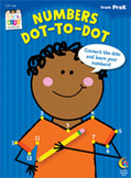Numbers: Dot-to-Dot Stick Kids Workbook: PreKindergarten