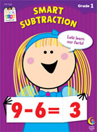 Smart Subtractions Stick Kids Workbook: Grade 1