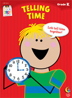 Telling Time Stick Kids Workbook: Kindergarten