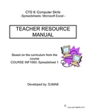 CTS Teacher Resource Manual: Spreadsheets 10, 11, 12
