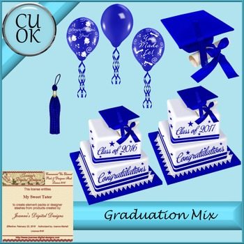 CU Graduation Mix Blue