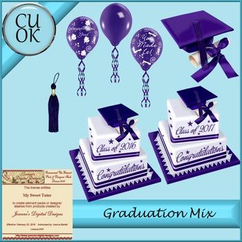 CU Graduation Mix Purple