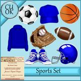 CU Sports Clipart Graphics Blue