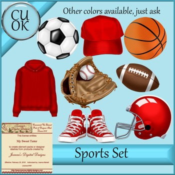 CU Sports Clipart Graphics Red