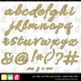 *HAPPY NEW YEARS* Gold Glitter Letters, Numbers Printable Clip Art