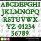 Printable Halloween Alphabet SPOOKY WEB Original GREEN Letters Numbers