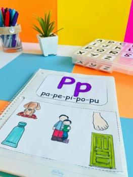 CUADERNO DE LECTO-ESCRITURA/ APRENDIENDO LAS SÍLABAS DIRECTAS