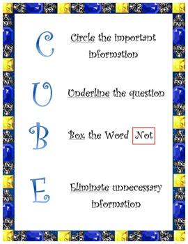 C.U.B.E: A Good Math Problem Solving Tool