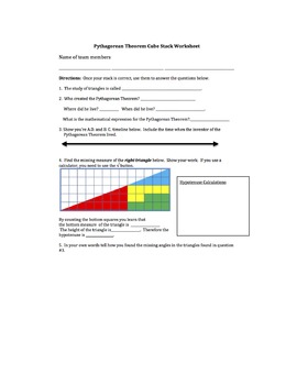 Math PuZZLE: Pythagorean Theorem and Right Triangles