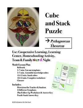 CUBE AND STACK PUZZLE: Pythagorean Theorem and Right Triangles