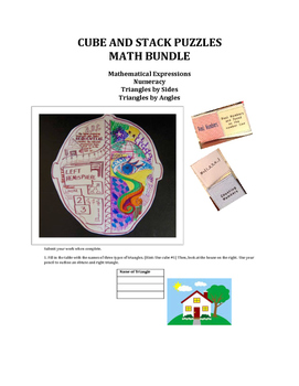 CUBE AND STACK PuZZLES: Math Bundle