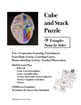 CUBE AND STACK PUZZLES: Triangles, Name by Sides