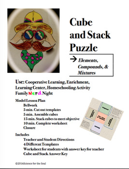 CUBE AND STACK PuZZLE: Elements, Compounds, Mixtures